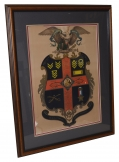 FRAMED ESCUTCHEON FOR OFFICER IN THE 15TH PENNSYLVANIA CAVALRY