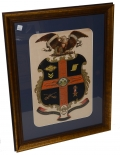 FRAMED ESCUTCHEON FOR SOLDIER IN THE 15TH PENNSYLVANIA CAVALRY