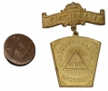 MASONIC BADGE AND LAPEL BUTTON ID'D TO MISSOURI CAVALRY OFFICER