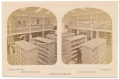 """STEREO VIEW"" OF COLLECTION ROOM IN LINNAEAN HALL, GETTYSBURG COLLEGE"