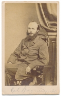 SEATED CDV VIEW OF 88TH PENNSYLVANIA COLONEL LOUIS WAGNER