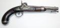 1843 DATED U.S. 1836 PATTERN PISTOL BY ASA WATERS WITH PERCUSSION CONVERSION