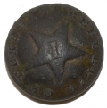 REPUBLIC OF TEXAS INFANTRY BUTTON BY SCOVILL