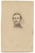 INK ID BUST VIEW CDV OF 4TH NEW HAMPSHIRE OFFICER