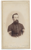 WAIST-UP CDV OF 4TH NEW HAMPSHIRE CORPORAL WHO WAS AMONG THE MISSING BUT LATER RETURNED