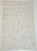 LETTER FROM JAMES HARVEY BROWN 91st NEW YORK, WIA PORT HUDSON