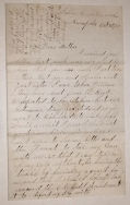 GETTYSBURG CONTENT LETTER OF CHARLES E. DEARING, 1st SERGEANT, CO. B, 16th MAINE, CAPTURED AS GETTYSBURG AFTER DEFENDING OAK RIDGE
