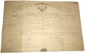 16th MAINE QUARTERMASTER SERGEANT'S WARRANT FOR CHARLES E. DEARING SIGNED BY CHARLES TILDEN, CAPTURED AT GETTYSBURG AND ESCAPED FROM LIBBY
