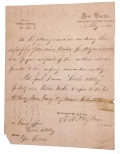 CONFEDERATE SPECIAL ORDERS: HEADQUARTERS DEPARTMENT OF NORTHERN VIRGINIA SIGNED BY LEE'S A.A.G. WALTER H. TAYLOR – BROUGHT HOME BY QM SGT. CHARLES E. DEARING, 16TH MAINE