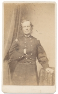 CDV OF 4TH NEW HAMPSHIRE MAJOR WHO DIED OF WOUNDS