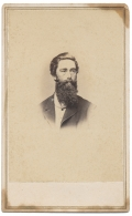 INK ID BUST VIEW CDV OF GEORGE F. HEADLEY OF THE 15TH PENNSYLVANIA CAVALRY
