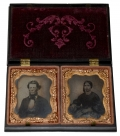 UNION CASE WITH TWO NINTH-PLATE TINTYPES