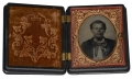 NINTH PLATE RUBY AMBROTYPE IN PATRIOTIC UNION CASE