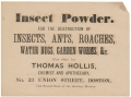 "APOTHECARY ADVERTISING BROADSIDE - ""INSECT POWDER"""