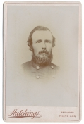 CABINET CARD—ID'D & SIGNED, BY MAJOR JAMES F. CHAPMAN, 22ND ILLINOIS INFANTRY