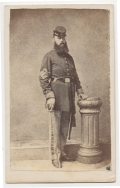 FULL STANDING CDV OF SERIOUS LOOKING 1ST SERGEANT