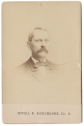 POST-WAR CABINET CARD PHOTO OF 2ND NEW HAMPSHIRE PRIVATE –WITH INTERESTING NOTATION ON REVERSE