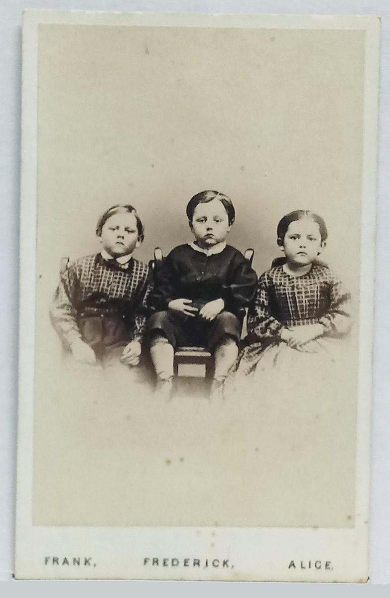 "CDV – ""THE CHILDREN OF THE BATTLEFIELD"" – EARLIER VERSION DATED 1865"