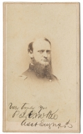 BUST VIEW CDV OF UNIDENTIFIED UNION SURGEON