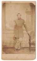 FULL STANDING CDV OF MOH RECIPIENT SGT. FRANCIS MCMILLEN, 110TH OHIO INFANTRY