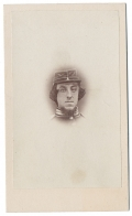HEAD VIEW CDV OF 2/LT. EDWARD C. COOPER, 9TH NEW YORK INFANTRY, KILLED IN ACTION AT ANTIETAM