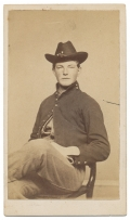 CDV WITH VERBAL ID TO 3RD WISCONSIN CAVALRYMAN