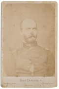 CABINET CARD COPY OF PRE-WAR IMAGE OF CONFEDERATE GENERAL LEWIS ARMISTEAD KILLED DURING PICKETT'S CHARGE AT GETTYSBURG