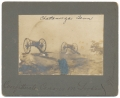 SMALL LATE 19TH CABINET CARD OF CANNONS ON LOOKOUT MOUNTAIN