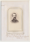 EXCELLENT BUST VIEW CDV OF SURGEON IN ORIGINAL ALBUM PAGE WITH NOTATIONS