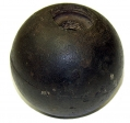 "CONFEDERATE 4.52"" 12 POUNDER SPHERICAL SHELL - GEISELMAN COLLECTION / PITZER COLLECTION GETTYSBURG"