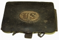 PATTERN 1861 .69 CALIBER CARTRIDGE BOX FOUND ON EAST CAVALRY FIELD, GETTYSBURG - GEISELMAN COLLECTION