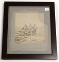 FRAMED ALBUMEN PHOTO OF THREE CONFEDERATE PRISONERS AT GETTYSBURG