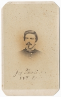 BUST VIEW CDV OF JOS. BERLIN, 88TH PA INFANTRY
