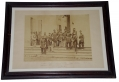 LARGE FRAMED ALBUMEN IMAGE OF THE STAFF OF THE 8TH NEW YORK INFANTRY