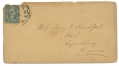 USED CONFEDERATE COVER WITH STAMP AND POSTMARK