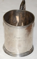 "HYDE & GOODRICH COIN SILVER CUP – ""HUGH"""