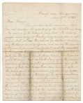 MAY 1863 CIVIL WAR LETTER FROM LEBANON, PA RESIDENT JACOB FORNEY KREPS DURING PA REGIMENTAL COMMISSION VISIT TO ROSECRANS' ARMY