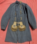 IDENTIFIED MAJOR GENERAL MARTIN LUTHER SMITH'S CONFEDERATE FROCK COAT WITH MEXICAN WAR TOPOGRAPHICAL ENGINEER EPAULETS AND HAT INSIGNIA