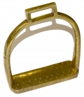 SINGLE BRASS ARSENAL MANUFACTURED ARTILLERY STIRRUP