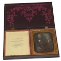 DOUBLE UNION CASE WITH ONE DAGUERREOTYPE OF MAN & BOY