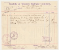 POSTWAR RAILROAD DOCUMENT SIGNED BY CONFEDERATE ARTILLERYMAN FRANK HUGER