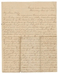 JUNE 17, 1863 CIVIL WAR LETTER FROM LEBANON, PA RESIDENT JACOB FORNEY KREPS DURING PENNSYLVANIA REGIMENTAL COMMISSION VISIT TO ROSECRANS' ARMY IN MURPHREESBORO - MENTION OF GETTYSBURG CAMPAIGN