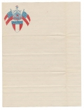 NICE SHEET OF CONFEDERATE PATRIOTIC STATIONERY – VIRGINIA STATE SEAL