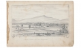 1863 FULL PAGE SKETCH OF A VIEW OF THE BULL RUN MOUNTAINS FROM 9TH MASSACHUSETTS BATTERY ARTIST RICHARD HOLLAND