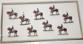 COMPLETE SET OF SAE HANDPAINTED FIGURES FROM THE 1950'S/60'S IN THE ORIGINAL BOX-UNION CAVALRY
