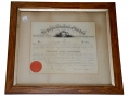 FRAMED COMMISSION FOR CAPTAIN THOMAS WAYNE, COMPANY D, 115TH NEW YORK INFANTRY