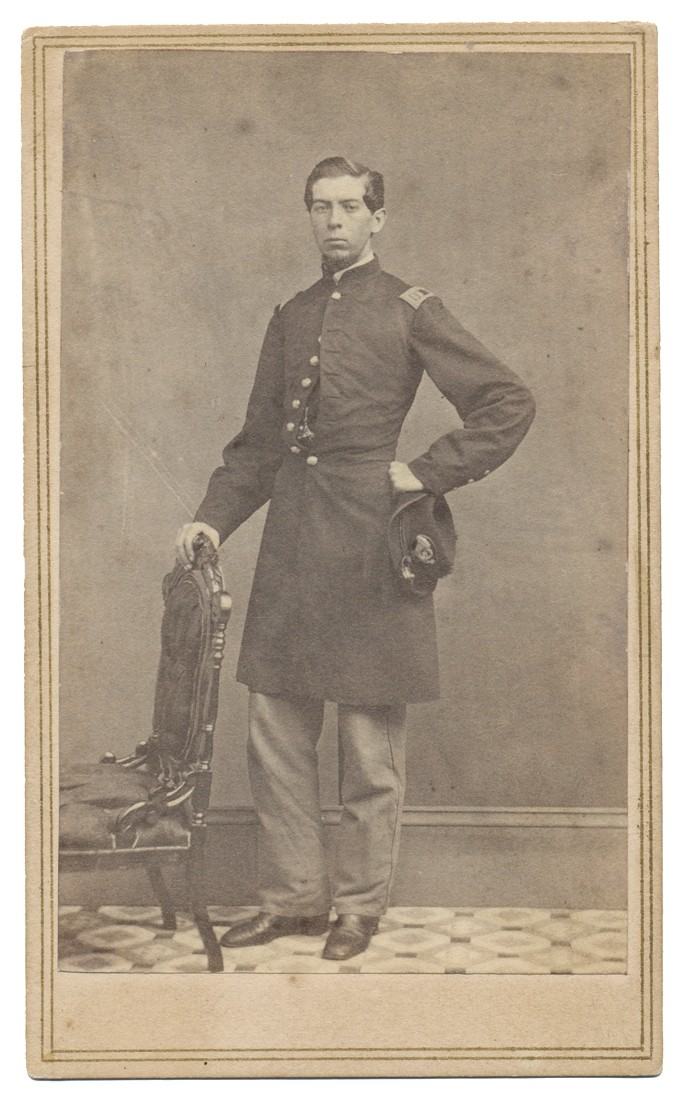 FULL STANDING CDV OF A YOUNG UNION CAPTAIN