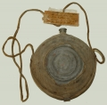 MODEL 1858 BULLSEYE CANTEEN WITH COVER AND SLING W/TAG ID'D TO PRIVATE IN 6TH PA HEAVY ARTILLERY