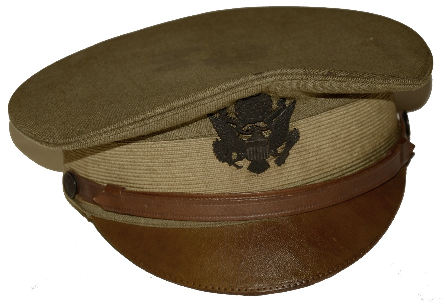 US WORLD WAR ONE MODEL 1910 OFFICER'S VISOR HAT