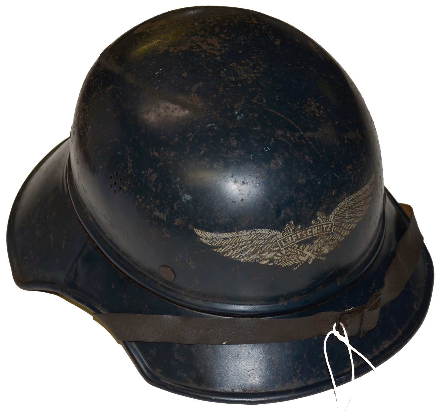 WORLD WAR TWO GERMAN LUFTSCHUTZ HELMET FROM THE RON TUNISON COLLECTION